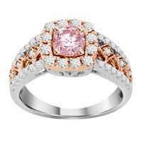 Picture of 1.00CT RD/ROSE DIAMOND SET IN 14KT TT WHITE & ROSE GOLD LADIES RING