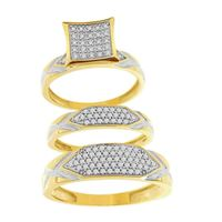 Picture of 0.50CT RD DIAMOND SET IN 10KT YELLOW GOLD LADIES TRIO RING