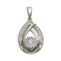 Picture of 0.10CT RD DIAMONDS SET IN 10KT WHITE GOLD LADIES PENDANT