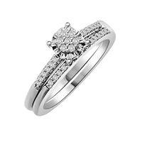 Picture of 0.20CT RD DIAMONDS SET IN 10KT WHTE GOLD LADIES BRIDAL RING
