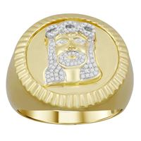 Picture of 0.15CT RD DIAMONDS SET IN 10KT YELLOW GOLD MENS RING