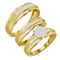Picture of 0.25CT RD DIAMONDS SET IN 10KT YELLOW GOLD LADIES TRIO SET