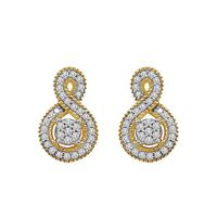 Picture of 0.20CT RD DIAMONDS SET IN 10KT YELLOW GOLD LADIES EARRING