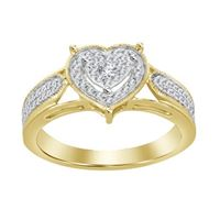 Picture of 0.20CT RD DIAMONDS SET IN 10K YELLOW GOLD LADIES RINGS