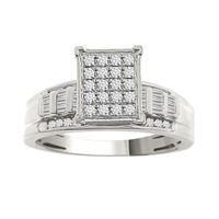 Picture of 0.50CT RD/BGT DIAMOND SET IN 10KT WHITE GOLD LADIES RING