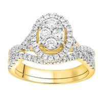 Picture of 1.00CT RD DIAMONDS SET IN 14KT YELLOW GOLD LADIES BRIDAL RING