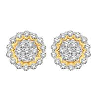Picture of 0.50CT RD DIAMONDS SET IN 10KT YELLOW GOLD LADIES EARRING