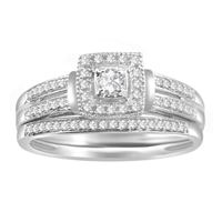 Picture of 0.25 CT ROUND DIAMOND SET IN 10 KT WHITE GOLD LADIES BRIDAL RING