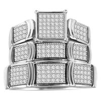 Picture of 0.50CT RD DIAMONDS SET IN 10KT WHITE GOLD LADIES TRIO RING