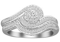 Picture of 0.25CT RD DIAMONDS SET IN 10K WHITE GOLD LADIES BRIDAL SET