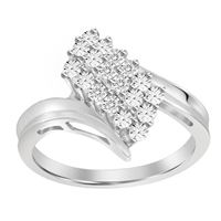 Picture of 0.05CT RD DIAMONDS SET IN SILVER LADIES RING
