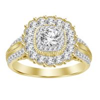 Picture of 1.25CT RD DIAMONDS SET IN 14KT YELLOW GOLD SEMI MOUNT LADIES RING