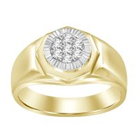 Picture of 0.25CT RD DIAMONDS SET IN 10KT TT YELLOW & WHITE GOLD MENS RING