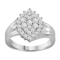 Picture of 0.06CT RD DIAMONDS SET IN STERLING SILVER LADIES RING