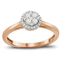 Picture of 0.25CT RD DIAMONDS SET IN 14K ROSE GOLD LADIES RING