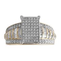 Picture of 1.00CT RD/BGT DIAMONDS SET IN 10KT TT YELLOW & WHITE GOLD LADIES RING
