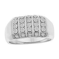 Picture of 0.50CT RD DIAMONDS SET IN 10KT WHITE GOLD MENS RING