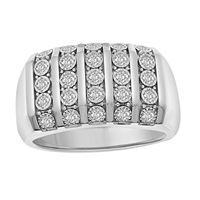 Picture of 1.00CT RD DIAMONDS SET IN 10KT WHITE GOLD MENS RING