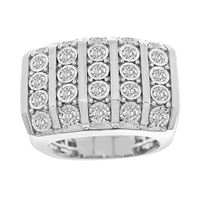 Picture of 1.50CT RD DIAMONDS SET IN 10KT WHITE GOLD MENS RING