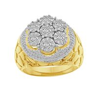 Picture of 1.00CT RD DIAMOND SET IN 10KT YELLOW GOLD MENS RING