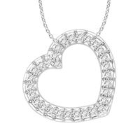Picture of 0.75CT RD DIAMONDS SET IN 10KT WHITE GOLD LADIES PENDANT