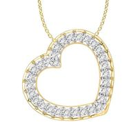 Picture of 0.75CT RD DIAMONDS SET IN 10KT YELLOW GOLD LADIES PENDANT