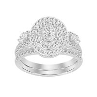 Picture of 1.00CT RD/OVAL/PEAR DIAMONDS SET IN 14KT LADIES BRIDAL RING
