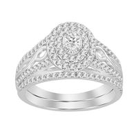 Picture of 0.75CT RD/OVAL DIAMONDS SET IN 10KT WHITE GOLD LADIES BRIDAL RING