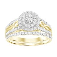 Picture of 0.75CT RD DIAMONDS SET IN 10KT YELLOW GOLD LADIES BRIDAL RING