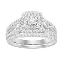 Picture of 0.75CT RD/PC DIAMONDS SET IN 10KT WHITE GOLD LADIES BRIDAL RING