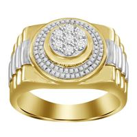 Picture of 0.50CT RD DIAMONDS SET IN 10KT TT YELLOW & WHITE GOLD MENS RING