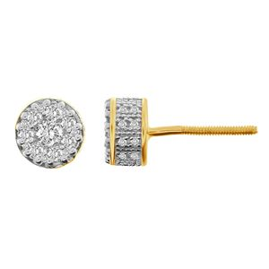 Picture of 0.50CT RD DIAMONDS SET IN 10KT YELLOW GOLD MENS EARRING