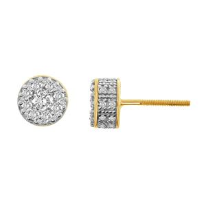 Picture of 0.75CT RD DIAMONDS SET IN 10KT YELLOW GOLD MENS EARRING