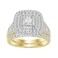 Picture of 2.00CT RD/PEAR DIAMONDS SET IN 14KT YELLOW GOLD LADIES BRIDAL RING