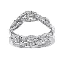 Picture of 0.50CT RD DIAMONDS SET IN 14KT WHITE GOLD LADIES WRAP RING