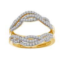 Picture of 0.50CT RD DIAMONDS SET IN 14KT YELLOW GOLD LADIES WRAP RING