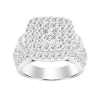 Picture of 5.00CT RD DIAMONDS SET IN 10KT WHITE GOLD LADIES RING