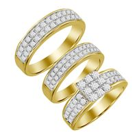 Picture of 2.00CT RD DIAMONDS SET IN 14KT YELLOW GOLD LADIES TRIO RING