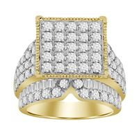 Picture of 4.00CT RD/BGT DIAMONDS SET IN 10KT YELLOW GOLD LADIES RING