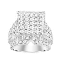Picture of 4.00CT RD/BGT DIAMONDS SET IN 10KT WHITE GOLD LADIES RING