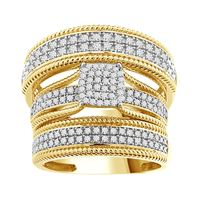 Picture of 0.50CT RD DIAMONDS SET IN 14KT YELLOW GOLD LADIES TRIO RING