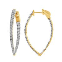 Picture of 2.00CT RD DIAMONDS SET IN 10KT YELLOW GOLD LADIES HOOP EARRING