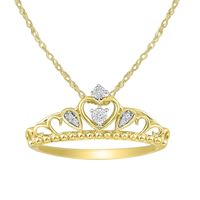 Picture of 0.05CT RD DIAMOND SET IN 10KT YELLOW GOLD LADIES PENDANT WITH CHAIN