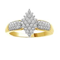 Picture of 0.20CT RD DIAMOND SET IN 10KT YELLOW GOLD LADIES RING