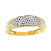 Picture of 0.20CT RD DIAMOND SET IN 10KT YELLOW GOLD MENS BAND