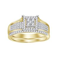 Picture of 0.30CT RD DIAMONDS SET IN 10KT YELLOW GOLD BRIDAL RING