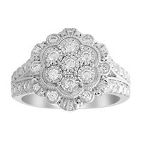 Picture of 0.50CT RD DIAMONDS SET IN 10KT WHITE GOLD LADIES RING