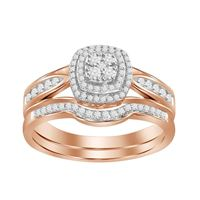 Picture of 0.30CT RD DIAMONDS SET IN 10KT ROSE GOLD LADIES BRIDAL RING