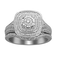 Picture of 0.10CT RD DIAMONDS SET IN SILVER LADIES BRIDAL RING