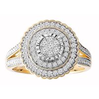 Picture of 0.50CT RD DIAMONDS SET IN 10KT YELLOW GOLD LADIES RING